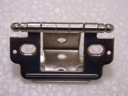 Inset with Ball Finial Nickel Open Hinge
