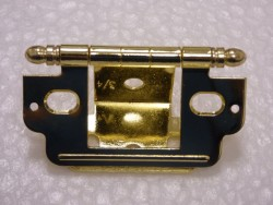 Inset with Ball Finial Polished Brass Open Hinge