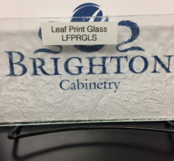 Leaf Print Glass